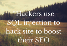 """""""Hackers use SQL injection to hack site to boost their SEO ranking"""""""