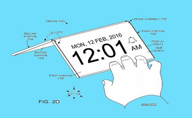 Patent image microsoft foldable smart phone