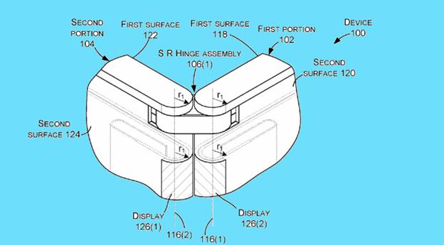 Patent image of Microsoft foldable smart-phone