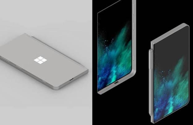 Microsoft foldable smart phone